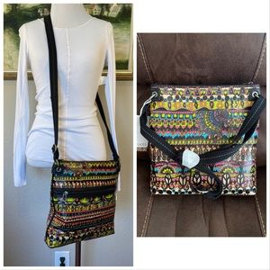 Sakroots Boho Colorful Crossbody Bag New With Tag